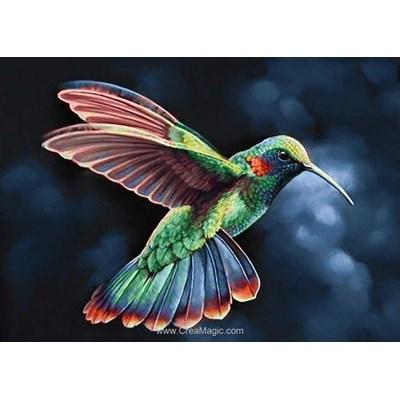 Kit broderie diamant Wizardi oiseau des tropiques