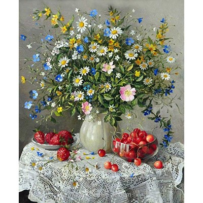 Kit broderie diamant summer flowers - Diamond Painting