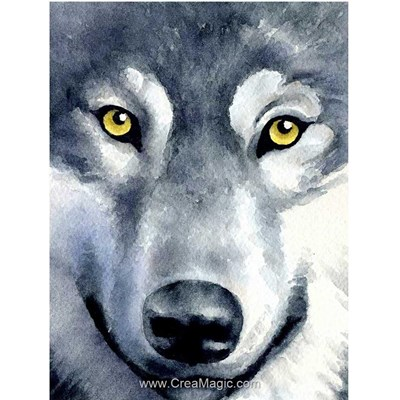 Broderie diamant Wizardi peinture de loup