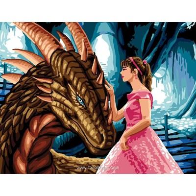Canevas la princesse et ledragon - Luc Création