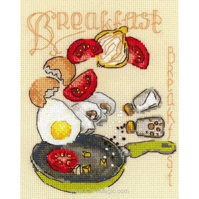 Kit tableau RIOLIS point de croix petit déjeuné