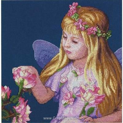 Broderie au point compté rose fairy de Dimensions