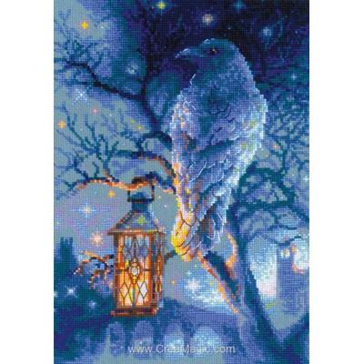 Le corbeau à la lanterne kit à broder point de croix - RIOLIS