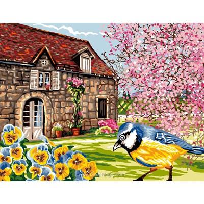 Luc Création canevas maison au printemps