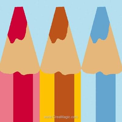 Canevas enfant en kit Luc Création mes petits crayons