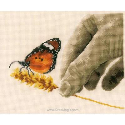 Kit broderie main et le papillon - Vervaco