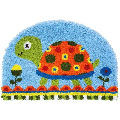 Kit tapis point noue tortue - Vervaco