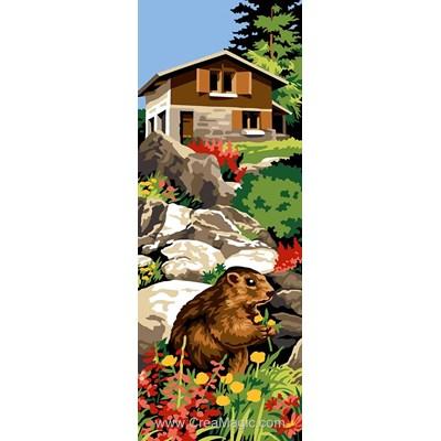 Refuge aux marmottes canevas chez Margot