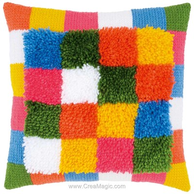 Coussin point noue couture carré - Vervaco