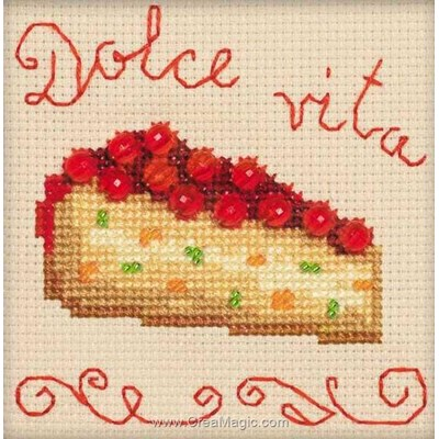 Kit au point de croix compté gâteau de cerises de RIOLIS