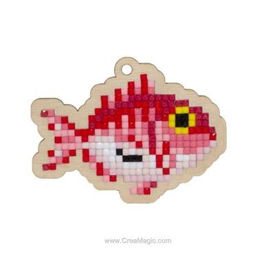 Broderie diamant puffer fish de Wizardi