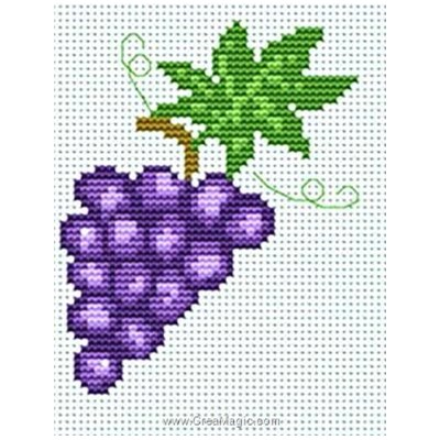 Broderie au point compté grappe de raisin - Luca-S