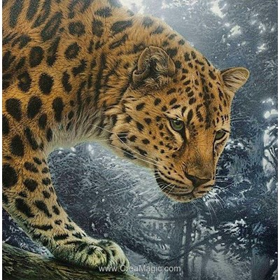 Kit broderie diamant Diamond Painting jungle hunter
