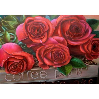 Kit broderie diamant beautiful roses - Diamond Painting