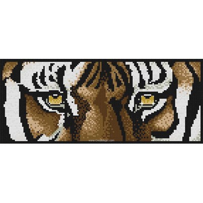 Broderie diamant Diamond Painting tiger's eyes
