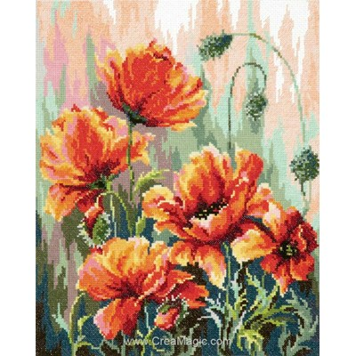 Kit coquelicots en fleurs de Magic Needle