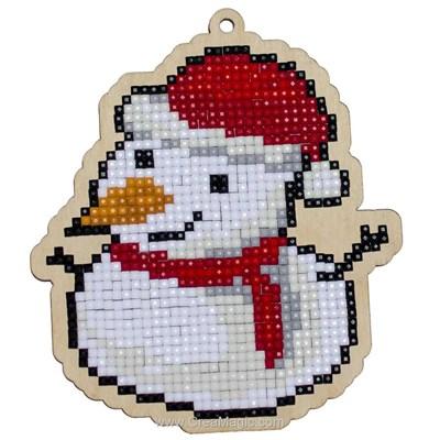 Broderie diamant snowman - noël - Wizardi