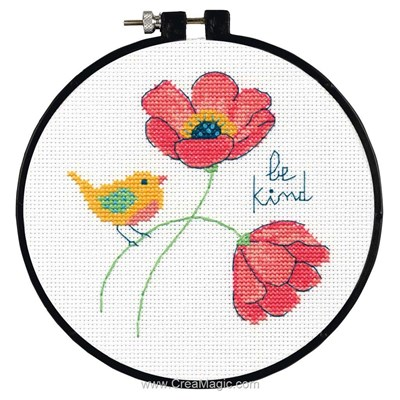 Learn a craft be kind broderie mini kit - Dimensions