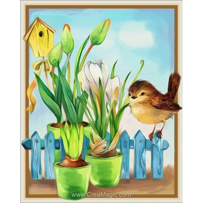 Broderie diamant Diamond Painting curious bird