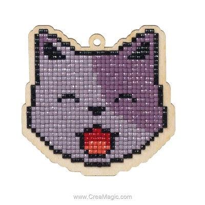 Kit broderie diamant cat lucky - Wizardi
