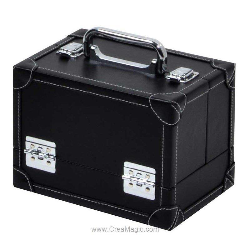 Boite couture noir aspect cuir 612 820 mercerie for Boite a couture en cuir