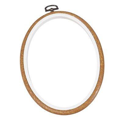 Cadre tambour grand oval Blanc - DMC