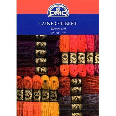 Nuancier - Carte des couleurs DMC Laine Colbert art 486 avec brins