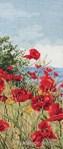 broderie au point de croix Clifftop Poppies View - Anchor