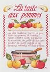 broderie au point de croix La tarte aux pommes - Marie Coeur