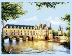 broderie au point de croix Le château de chebonceaux - Luc Création