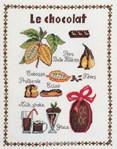 broderie au point de croix Le chocolat sur toile aida - Marie Coeur