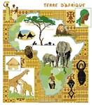 broderie au point de croix Terre d'Afrique - AUX 4 POINTS DU MONDE