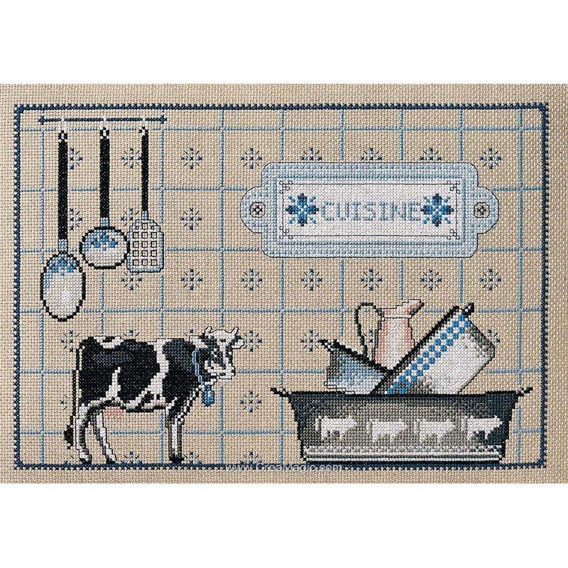 Point de croix broder cuisine d 39 autrefois sur toile aida - Point de croix cuisine ...