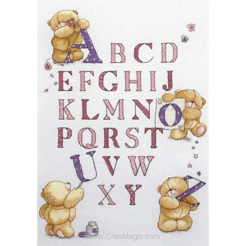 broderie au point de croix Learn The Alphabet en kit ...