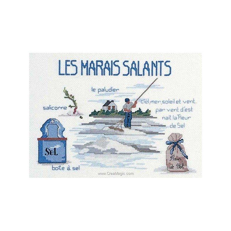 broderie au point de croix Les marais salants en kit broderie de Royal Paris 6437-7