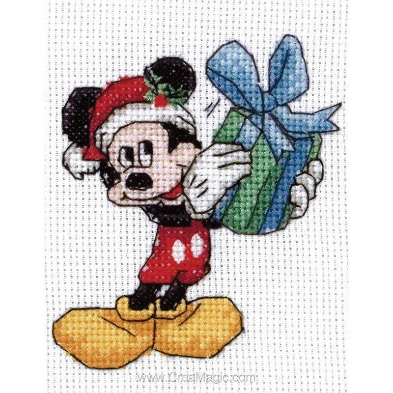 broderie au point de croix Mickey Christmas Mini en kit broderie de Anchor DPPM104