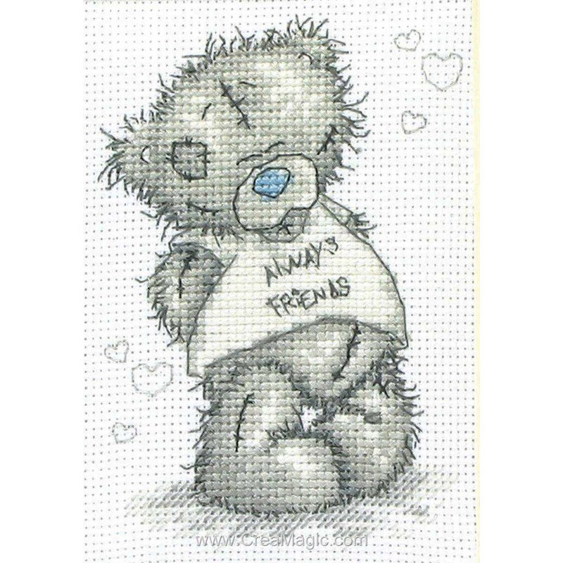 Broderie au point de croix nounours me to you en kit broderie de anchor tt06 - Nounours me to you ...