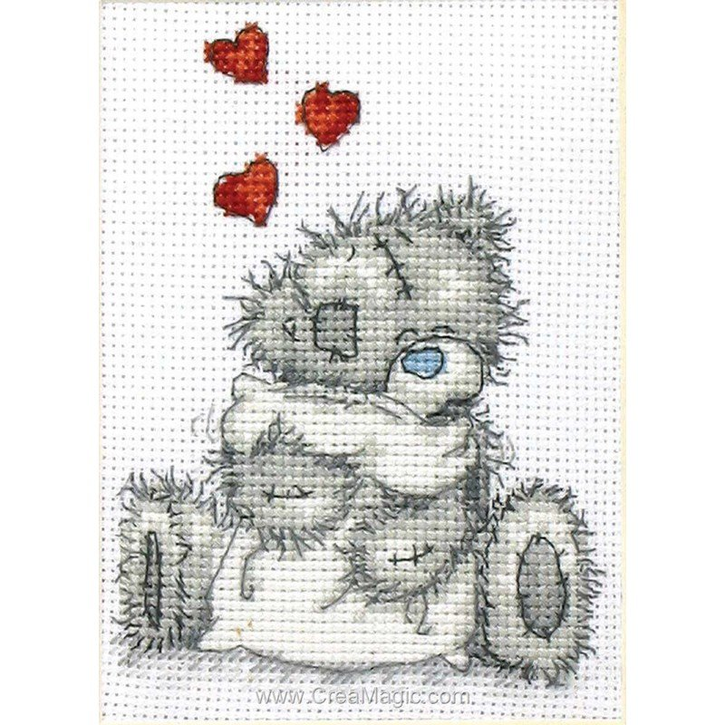 Point de croix broder nounours me to you kit broderie de anchor tt03 - Nounours me to you ...