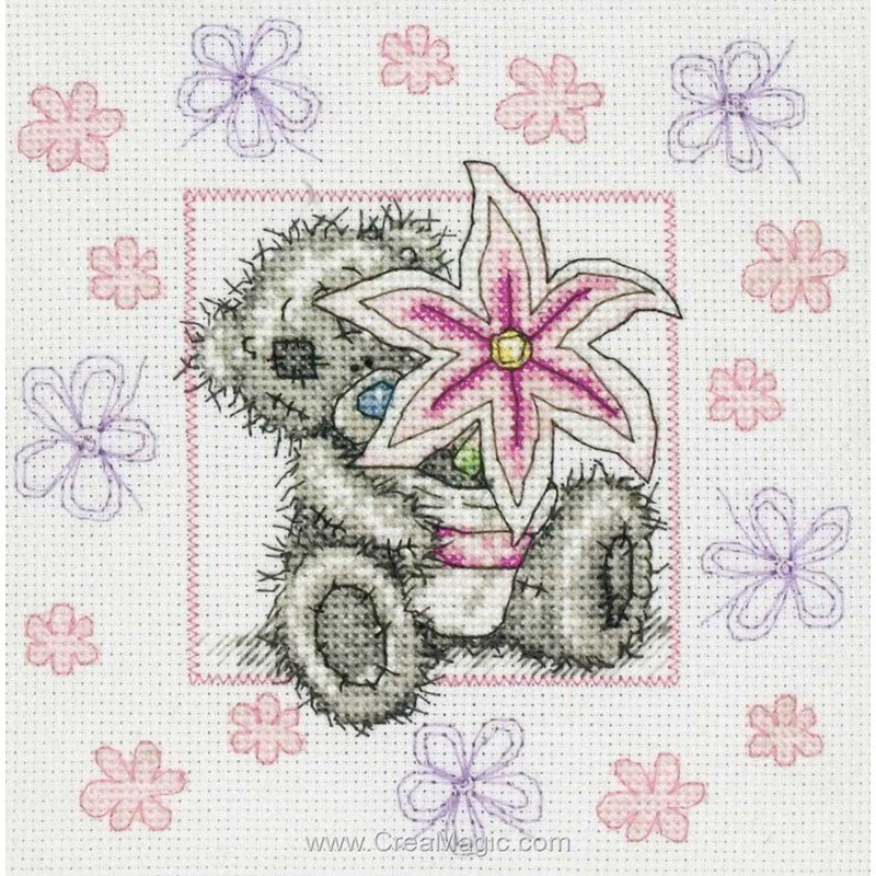 Broderie au point de croix nounours me to you en kit broderie de anchor tt118 - Nounours me to you ...