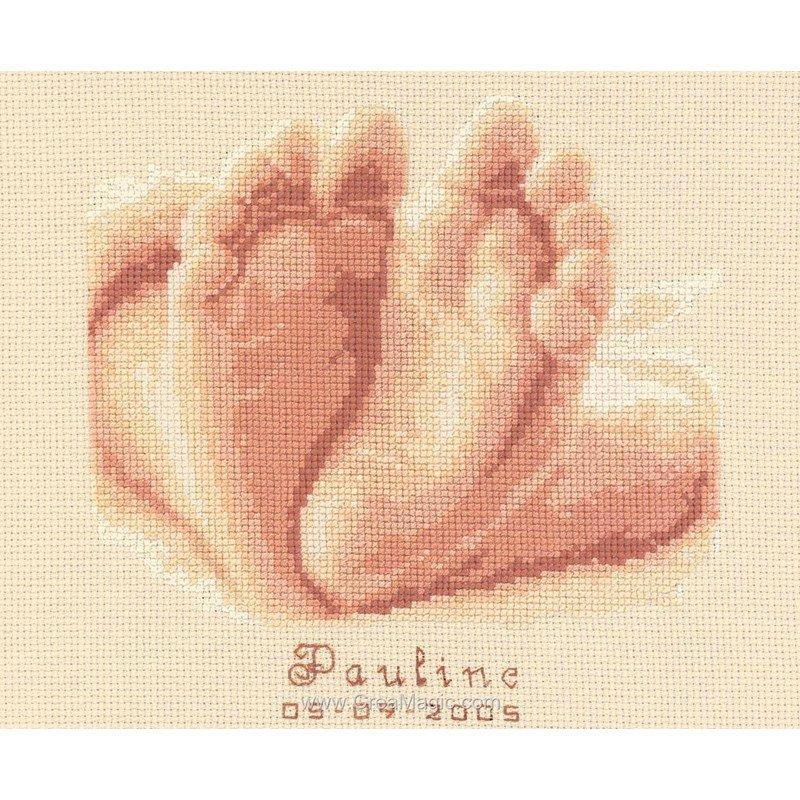 Broderie au point de croix tableau de naissance les petits - Tableau de naissance point de croix gratuit ...