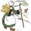 broderie au point de croix Bécassine à la montagne  sur toile Aida - Princesse - Princesse