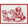 grille au point de croix Josette s'informe sur toile aida 7.0 - Anagram - Anagram