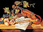 Canevas Nature morte au violon - Margot