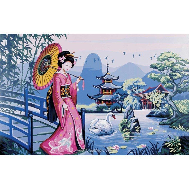 canevas le jardin japonais et fils retors de royal paris. Black Bedroom Furniture Sets. Home Design Ideas