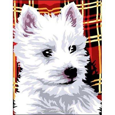 Kit canevas Chien fox terrier écossais - Margot