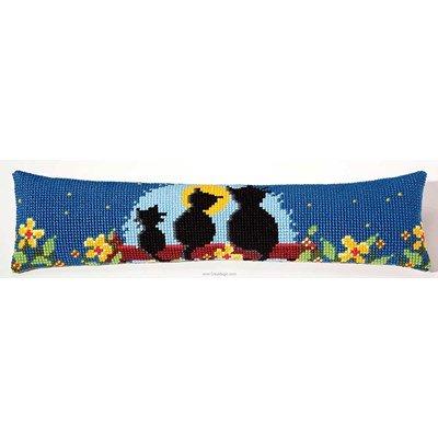 Kit canevas Bas de porte chat au clair de lune - Vervaco