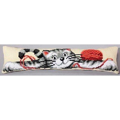 Kit canevas Bas de porte Chat et pelote de laine - Vervaco