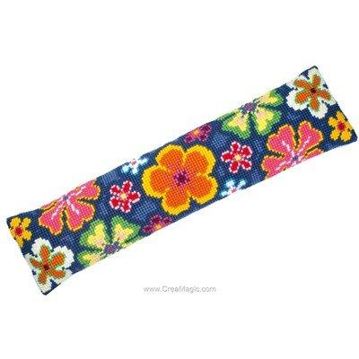Kit canevas Bas de porte fleurs multicolores - Vervaco