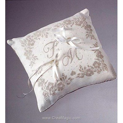 Coussin Mariage Broder Creamagic