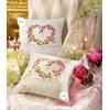 Coussin de mariage cœur de roses couleur blanc à broder au point de croix - Vervaco - Vervaco